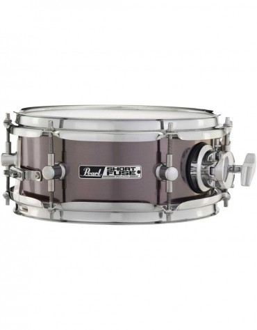 """Pearl SFS10/C750, Short Fuse 10"""" x 4.5"""" Snare Drum w/Mount and Clamp, Brushed Pewter"""