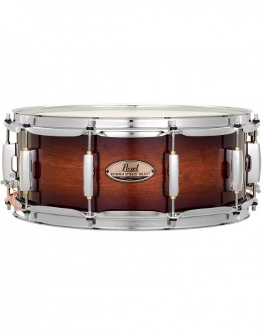 """Pearl STS1455S/C314, Session Studio Select 14"""" x 5.5"""" Snare Drum, Gloss Barnwood Brown"""
