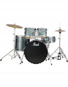 Pearl Road Show RS505C/C706, 5-Piece Drum Set with Hardware and Cymbals Set, Charcoal Metallic