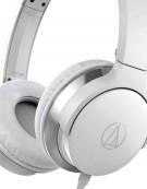 Audio-Technica ATH-AR3iSWH Portable On-Ear Headphones