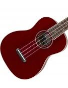 Fender Zuma Classic Concert Ukulele, Walnut Fingerboard, Candy Apple Red