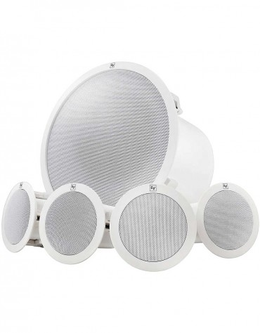 Electro-Voice EVID-C44 Ceiling Mount Speaker System, Subwoofer, 4 Satellite Speakers, White