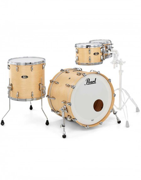 Pearl Masters Maple Gum MMG904XP/C186, 4-Piece Shell Set, Hand Rubbed Natural Maple