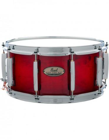 "Pearl STS1465S/C315, Session Studio Select 14"" x 6.5"" Snare Drum, Antique Crimson Burst"