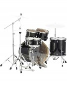 Pearl Export Lacquer EXL705N/C248, 5-Piece Drum Set with Hardware, Black Smoke