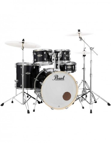 Pearl Export Lacquer EXL725S/C248, 5-Piece Drum Set with Hardware, Black Smoke