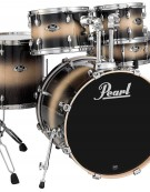 Pearl Export Lacquer EXL725F/C255, 5-Piece Drum Set with Hardware, Nightshade Lacquer