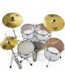 Pearl Export EXX, EXX705NBR/C735, 5-Piece Drum Set with Hardware and Sabian SBr Cymbals Set, Matte White