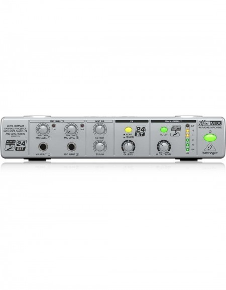 Behringer MINIMIX MIX800, Ultra-Compact Karaoke Processor with Voice Canceller and Echo/Reverb Effects