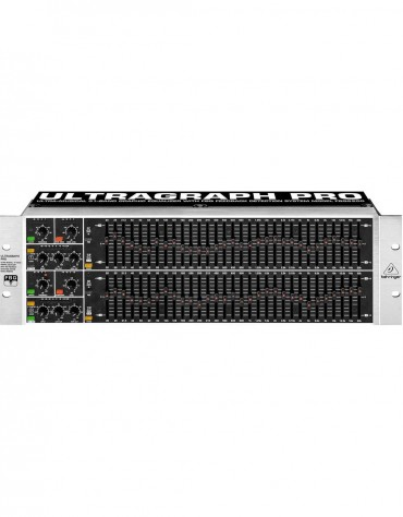 Behringer ULTRAGRAPH FBQ-PRO FBQ6200, Audiophile 31-Band Stereo Graphic Equalizer with FBQ Feedback Detection System
