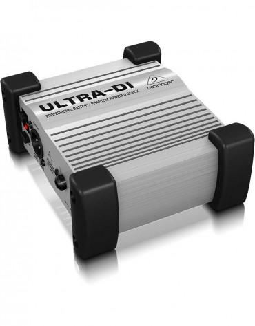 Behringer ULTRA-DI DI100, Professional Battery/Phantom Powered DI-Box
