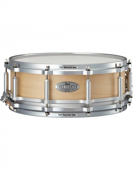 """Pearl FTMM1450/321, Free Floating Maple, 14""""x5"""" Snare Drum, Satin Maple"""