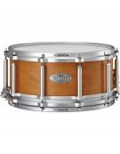 "Pearl FTMMH1465/323, 14""x6.5"" Maple/Mahogany Free Floating Snare Drum, W/SR-160F, Satin Amber Mahogany"