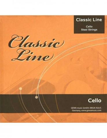 Gewa F641.019 CLASSIC LINE CELLO STRING SET 4/4
