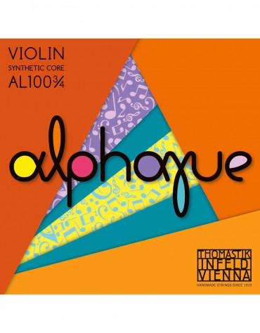 Thomastik 633.439, AL100 3/4, Medium Tension Violin Strings