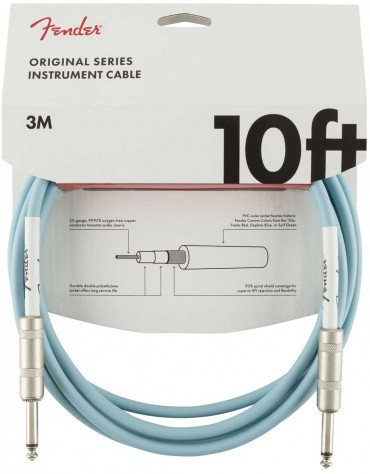Fender 10ft Original Series Instrument Cables, Daphne Blue