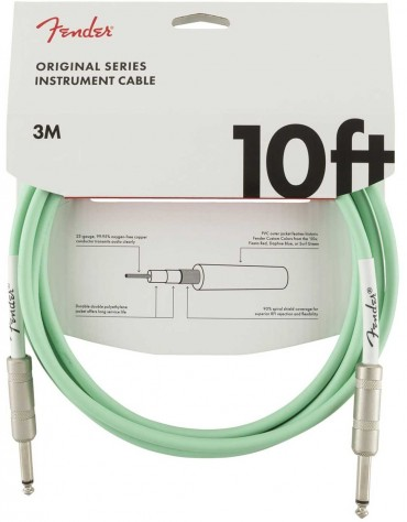 Fender 10ft Original Series Instrument Cables, Surf Green