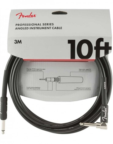 Fender 10ft Professional Series Instrument Cable Angle, Black