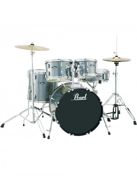 Pearl Road Show RS525SC/C706, 5-Piece Drum Set with Hardware and Cymbals Set, Charcoal Metallic