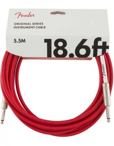 Fender 18.6ft Original Series Instrument Cables, Fiesta Red