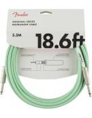 Fender 18.6ft Original Series Instrument Cables, Surf Green