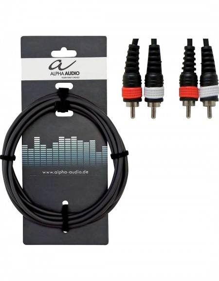 Alpha Audio 190.190, 1.5m Basic Line Twin Cable