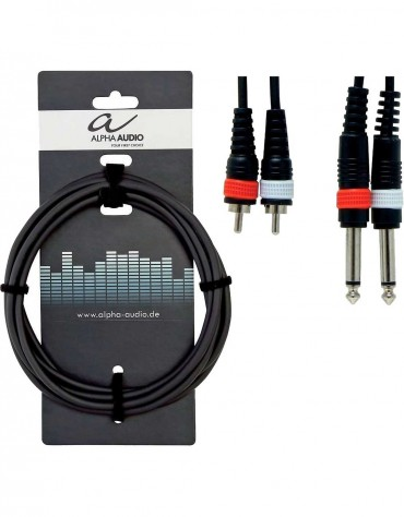 Alpha Audio 190.210, 1.5m Basic Line Twin Cable