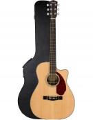 Fender CC-140SCE, Walnut Fingerboard, Natural, Includes Hardshell Case