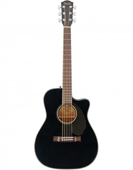 Fender CC-60SCE, Concert Solid Top, Walnut Fingerboard, Black