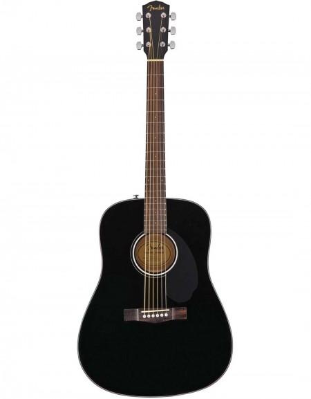 Fender CD-60S Dread, Walnut Fingerboard, Black
