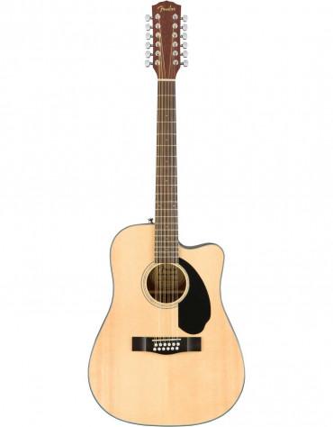 Fender CD-60SCE 12-String, Solid Top, Walnut Fingerboard, Natural
