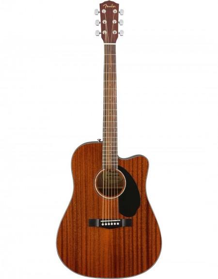 Fender CD-60SCE Dreadnought, All-Mahogany, Walnut Fingerboard, Natural