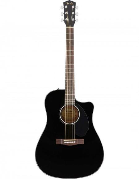 Fender CD-60SCE, Walnut Fingerboard, Black