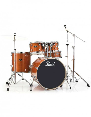Pearl Export Lacquer EXL725S/C249, 5-Piece Drum Set with Hardware, Honey Amber