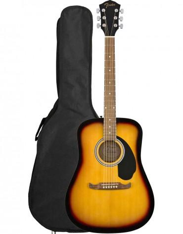 Fender FA-125 Dreadnought, Walnut Fingerboard, Sunburst, Includes Gig Bag