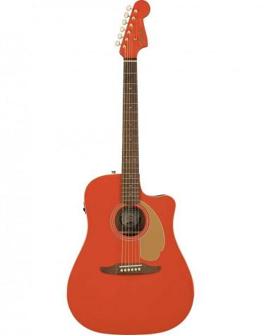 Fender Redondo Player, FSR Limited Edition, Gold Hardware, Fiesta Red