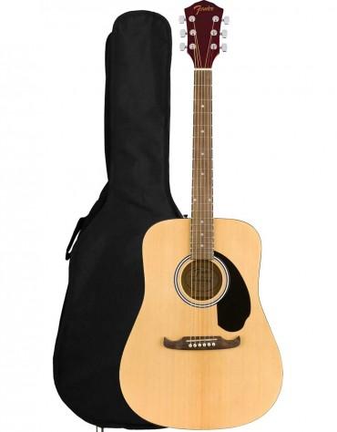 Fender FA-125 Dreadnought, Walnut Fingerboard, Natural, Includes Gig Bag