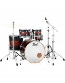 Pearl DMP905/C260 Decade Maple, 5-Piece Shell Set with Hardware, Satin Brown Burst