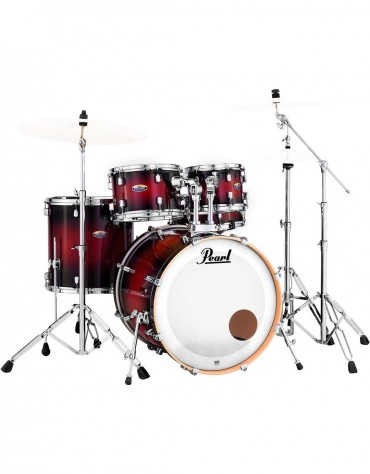 Pearl DMP905/C261 Decade Maple, 5-Piece Shell Set with Hardware, Gloss Deep Red Burst