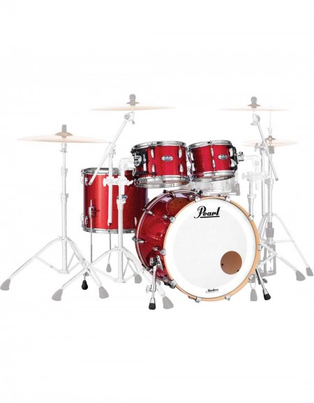 Pearl Masters Maple Complete MCT924XEFP/C319, 4-Piece Shell Set, Inferno Red Sparkle