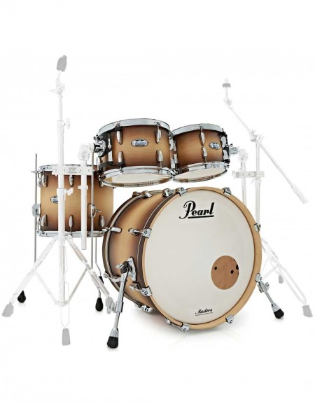 Pearl Masters Maple Complete MCT904XEP/C351, 4-Piece Shell Set, Satin Natural Burst