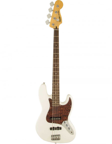 Squier Vintage Modified Jazz Bass®, Indian Laurel Fingerboard, Olympic White