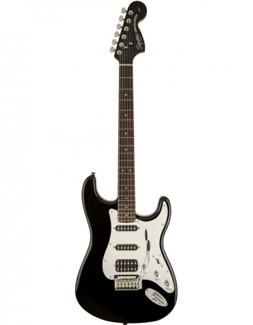 Squier Special Edition Black and Chrome Standard Stratocaster® HSS, Indian Laurel Fingerboard, Black