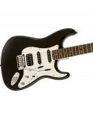 Squier Special Edition Black and Chrome Standard Stratocaster® HSS, Rosewood Fingerboard, Black