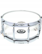 """Pearl CRB1465S/C730, 14""""x6.5"""" Crystal Beat Free Floating Snare Drum Ultra Clear"""