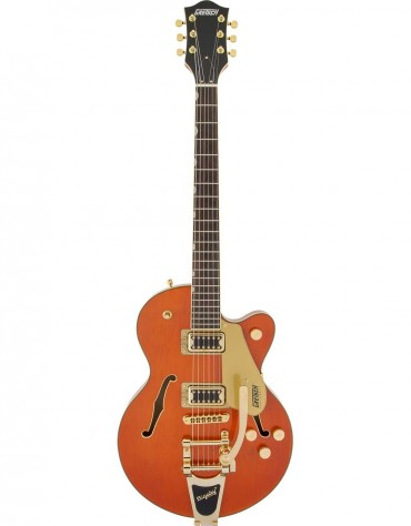Gretsch G5655TG ELECTROMATIC® CENTER BLOCK JR. SINGLE-CUT WITH BIGSBY® AND GOLD HARDWARE, LAUREL FINGERBOARD, ORANGE STAIN