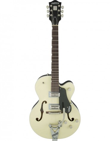 Gretsch G6118T-LIV PLAYERS EDITION ANNIVERSARY™ WITH STRING-THRU BIGSBY®, 2-TONE LOTUS IVORY AND CHARCOAL METALLIC
