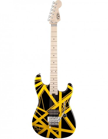 EVH Striped Series, Black with Yellow Stripes