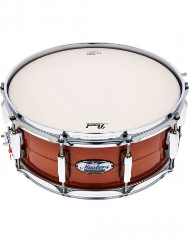 Pearl MCT1455S/C840 Masters Maple Complete 14 x 5.5 inch snare drum, Almond Red Stripe