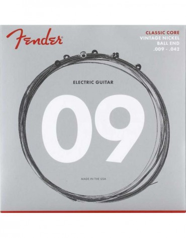 Fender 155L Classic Core Vintage Nickel Ball End Electric Guitar Strings -.009-.042 Light